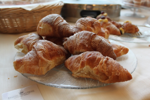 Croissants from the hotel in Sorrento, Italy.